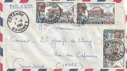 Benin 1960 Cotonou Fishing Village To Pondicherry Cover - Brieven En Documenten