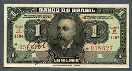 Brésil P 110 (1923) 1 MIL REIS - UNC - Série 110 N° 058627  RARE!!! - Brésil