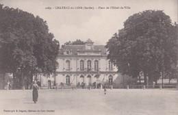 Carte 1915 CHATEAU DU LOIR / PLACE DE L'HOTEL DE VILLE - Chateau Du Loir