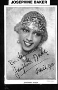 Josephine Baker - Autographes
