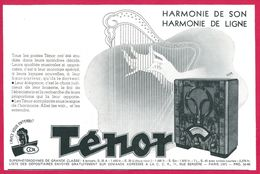 Tenor Poste De Radio 1930 - Publicités