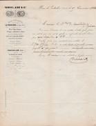 Lettre Facture Cachets 1866 VANDEL / Fer Forgé, Fil De Fer De Comté / LA FERRIERE SOUS JOUGNE / Scierie PONTARLIER Doubs - France