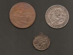 España 3 Medalas / Token / Jeton - Non Classés