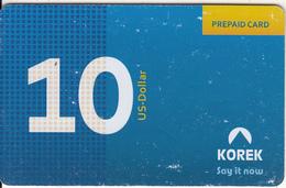 KURDISTAN(North IRAQ) - Korek Telecom Prepaid Card $10, Used