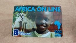 Israel-africa On Line-(2)-(1000units)-bezeqi International - Centraal-Afrikaanse Republiek
