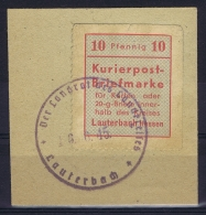 Bi Zone : Lauterbach Hessen Kurierpost-Briefmarke Mi Nr I  On Frangment RRR