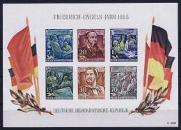DDR  Mi Block Nr 13   MNH/**/postfrisch/neuf Sans Charniere  1955 Friedrich Engels Jahr - Blocks & Kleinbögen