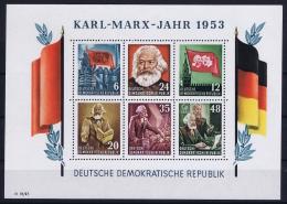 DDR  Mi Block Nr 8A   MNH/**/postfrisch/neuf Sans Charniere  1953 Karl Marx Jahr - Blocks & Kleinbögen