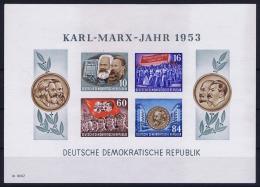 DDR  Mi Block Nr 9B   MNH/**/postfrisch/neuf Sans Charniere  1953 Karl Marx Jahr - Blocks & Kleinbögen