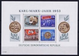 DDR  Mi Block Nr 9A   MNH/**/postfrisch/neuf Sans Charniere  1953 Karl Marx Jahr - Blocks & Kleinbögen