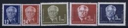DDR  Mi Nr 251 - 255   MNH/**/postfrisch/neuf Sans Charniere - DDR