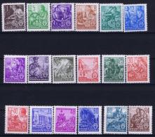 DDR  Mi Nr 362 - 379 MNH/**/postfrisch/neuf Sans Charniere  1953 Funfjahrenplan - DDR