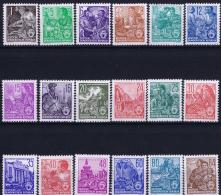 DDR  Mi Nr 405 - 422 MNH/**/postfrisch/neuf Sans Charniere  1953 Funfjahrenplan - DDR