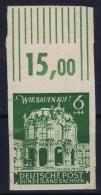 SBZ Ost Sachsen Mi Nr 64aU Bogenrand  MNH/**/postfrisch/neuf Sans Charniere RR - Sovjetzone