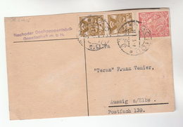 1925 CZECHOSLOVAKIA Stamps COVER (card) Nachoder Dachpappenfabrik Gesellschaft - Covers & Documents
