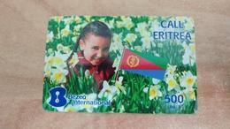 Israel-eritrea Call-(3)-(30.9.2012)-(500units)-bezeq International-used Card - Eritrea