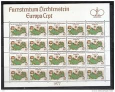 Europa CEPT - 1977 LIECHTENSTEIN Minifogli Perfetti ** MNH - Europa-CEPT