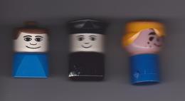 LOT  DE  3  GROS  PERSONNAGES   DUPLO  DIFFERENTS - Figurines