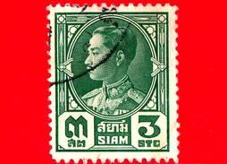 SIAM - Tailandia - Usato - 1928 - Re Prajadhipok - 3 - Siam