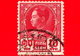 SIAM - Tailandia - Usato - 1928 - Re Prajadhipok - 10 - Siam