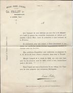 Documents  Des  Ets Ch Frilet  Huiles Pures D'Olives Propriétaire à Cuers Dans Le Var 1905 - Alimentare