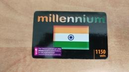 Israel-millennium Logo Cellcom -(5)-(6months)-(1150units)-used Card - India