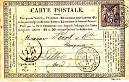 61 PAS De CALAIS - ESTREE-BLANCHE Sur Sage - 1877 - 1877-1920: Periodo Semi Moderno