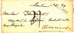 61 PAS De CALAIS - LILLERS (Calonne) - 1827 - Marcophilie (Lettres)