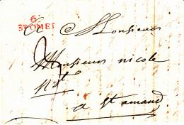 61 PAS De CALAIS - ST OMER - 1805 - Marcofilia (sobres)