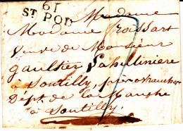 61 PAS De CALAIS - ST POL (Heuchin) - 1826 - Marcophilie (Lettres)