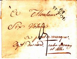61 PAS De CALAIS - ST POL (Troisvaux) - 1827 - Marcofilia (sobres)