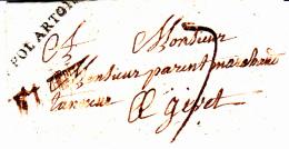61 PAS De CALAIS - ST POL ARTOIS - 1784 - 1701-1800: Precursores XVIII
