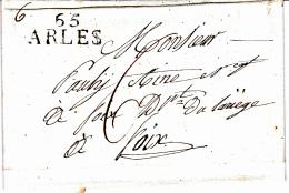 65 PYRENEES Orientales - Marque Linéaire 65 ARLES Sur Tech - 1827 - Marcophilie (Lettres)