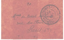 71 SARTHE - IMPRIMES PP CHATEAU DU LOIR - 1905 - 1877-1920: Periodo Semi Moderno