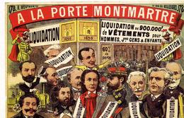 """PUBLICITE   L 48  """"  A LA PORTE MONTMARTRE    PAR      CPM / CPSM  10 X 15 - Publicité"""