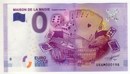 2016-1 BILLET TOURISTIQUE 0 EURO SOUVENIR N° 000198 MAISON DE LA MAGIE BT épuisé - EURO