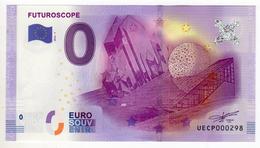 2016-1 BILLET TOURISTIQUE 0 EURO SOUVENIR N° 000298 FUTUROSCOPE - EURO