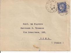 PARIGI - ROMA, Tarif 2f25, 1939, TIMBRO POSTE ROMA  TARGHETTA - Francia