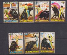 Rep. De Guinea Ecuatorial Bull Fighting / Toreador 7v Used  Cto (33804) - Equatoriaal Guinea