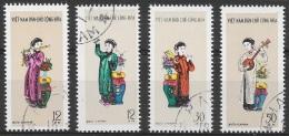 T 00673 - Vietnam Du Nord 1961, Oblitérés N° 247 à 250, Côte 7.50 €