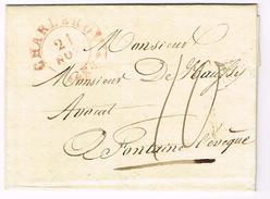 Précurseur De Charleroi Vers Fontaine L'Evêque En 1833 (J32) - 1830-1849 (Belgique Indépendante)