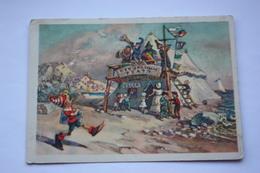 USSR Postcard - Circus. .Pinocchio - 1955 - Cirque