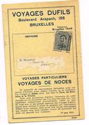 Préoblitéré Roulettes De Bruxelles En 1921 Pub Pour Les Voyages Dufils (J51) - Préoblitérés