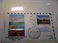 102576) Lettera  Con Annullo Speciale-50° Anniversario Sorvolo Del Polo Nord-nobile-dirigibile-norge-ciampino- 12-5-1976 - Zeppelin