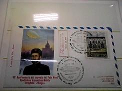 102577) Lettera  Con Annullo Speciale-50° Anniversario Sorvolo Del Polo Nord-nobile-dirigibile-norge-ciampino- 12-5-1976 - Zeppelin