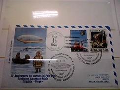 102578) Lettera  Con Annullo Speciale-50° Anniversario Sorvolo Del Polo Nord-nobile-dirigibile-norge-ciampino- 12-5-1976 - Zeppelin