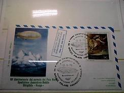 102579) Lettera  Con Annullo Speciale-50° Anniversario Sorvolo Del Polo Nord-nobile-dirigibile-norge-ciampino- 12-5-1976 - Zeppelin