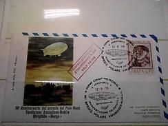 102580) Lettera  Con Annullo Speciale-50° Anniversario Sorvolo Del Polo Nord-nobile-dirigibile-norge-ciampino- 12-5-1976 - Zeppelin