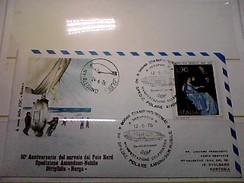 102581) Lettera  Con Annullo Speciale-50° Anniversario Sorvolo Del Polo Nord-nobile-dirigibile-norge-ciampino- 12-5-1976 - Zeppelin