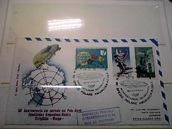 102582) Lettera  Con Annullo Speciale-50° Anniversario Sorvolo Del Polo Nord-nobile-dirigibile-norge-ciampino- 12-5-1976 - Zeppelin